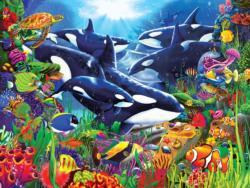 Orcas Ocean Domain Fish Jigsaw Puzzle