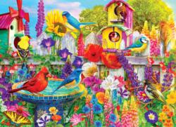 Bird Bath Garden Garden Jigsaw Puzzle