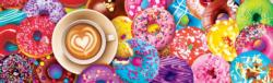 I Love Coffee And Donuts Sweets Panoramic Puzzle