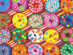 Rainbow Decorated Doughnuts Sweets Jigsaw Puzzle