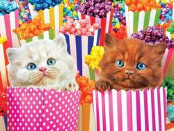 Popcorn Kitty Surprise Cats Jigsaw Puzzle