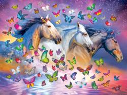 Butterfly Breeze Horses Jigsaw Puzzle