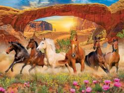 Sunset Run Horses Jigsaw Puzzle