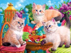 Kitten Tea Party Cats Jigsaw Puzzle