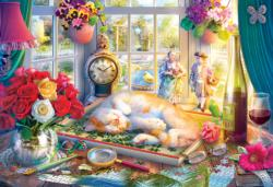 Puzzle Time Cats Jigsaw Puzzle