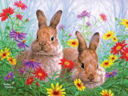 Summertime Bunnies Wildlife Jigsaw Puzzle