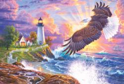 The Guiding Light Seascape / Coastal Living Jigsaw Puzzle