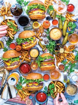 Burger Tray Food and Drink Jigsaw Puzzle
