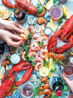 Summer Vibes Seafood Food and Drink Jigsaw Puzzle
