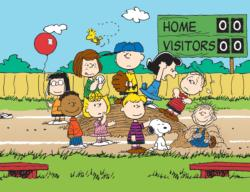 Peanuts Baseball Cartoon Children's Puzzles