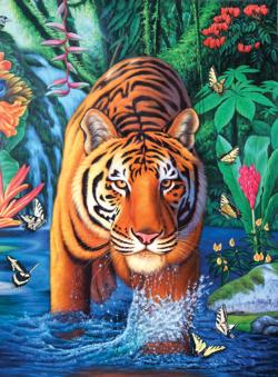 Tiger Pool Tigers Jigsaw Puzzle