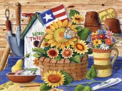Sunflowers and Flag (Collector) Garden Jigsaw Puzzle