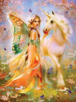 Fairy Princess and Unicorn Unicorns Jigsaw Puzzle