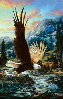 Eagle Sky Wildlife Jigsaw Puzzle