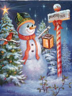 North Pole or Bust Snow Jigsaw Puzzle