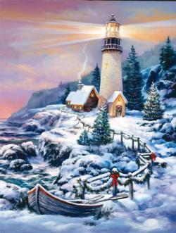 Snowy Path Snow Jigsaw Puzzle