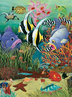 Fish in the Sea Marine Life Large Piece