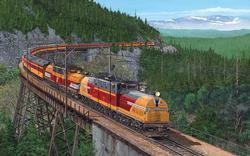 BiPolars over Snoqualmie Pass Trains Jigsaw Puzzle
