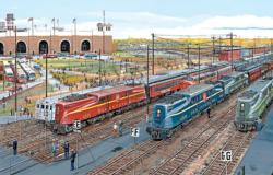Pennsy Lineup Trains Jigsaw Puzzle