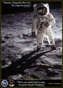 Walk on the Moon Space Jigsaw Puzzle
