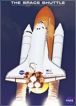 The Space Shuttle Atlantis Space Jigsaw Puzzle