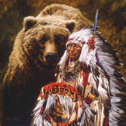 My Brother the Grizzly Native American Jigsaw Puzzle