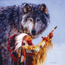 Spirit of the Wolf Native American Jigsaw Puzzle