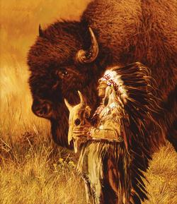 Spirit of Tatanka Native American Jigsaw Puzzle