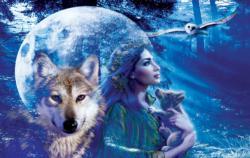 Moonlit Brethren Wolves Jigsaw Puzzle