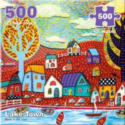Lake Town Lakes / Rivers / Streams Jigsaw Puzzle