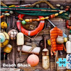 Beach Shack Boats Jigsaw Puzzle
