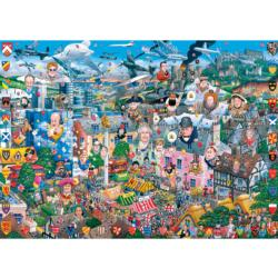 I Love Great Britain Flags Jigsaw Puzzle