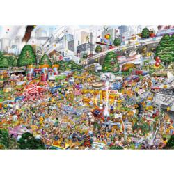I Love Car Boot Sales Cartoons Jigsaw Puzzle