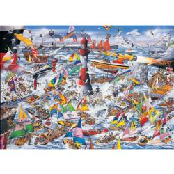 I Love Boats Seascape / Coastal Living Jigsaw Puzzle