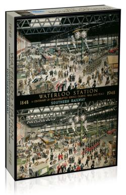 Waterloo Station Trains Jigsaw Puzzle
