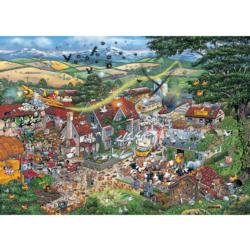 I Love the Farmyard Cartoons Jigsaw Puzzle
