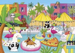 Pool Party Summer Jigsaw Puzzle