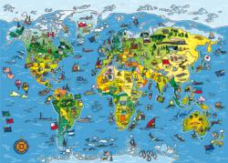 Jigmap World Maps / Geography Children's Puzzles