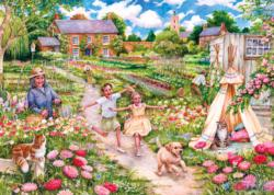 Childhood Memories Domestic Scene Large Piece