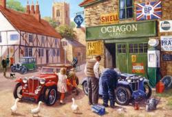Octagon Garage Nostalgic / Retro Jigsaw Puzzle
