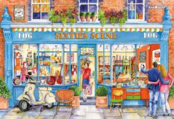 Sixties Scene Shopping Jigsaw Puzzle