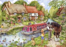 Drifting Downstream Cottage / Cabin Jigsaw Puzzle