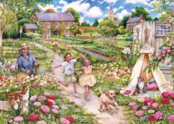 Childhood Memories Domestic Scene Jigsaw Puzzle