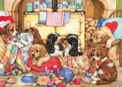 Puppies will be Puppies Domestic Scene Large Piece