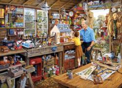 Grandad's Workshop Domestic Scene Large Piece