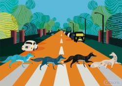 Abbey Road Foxes Music Jigsaw Puzzle