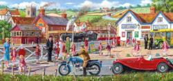 Railroad Crossing Nostalgic / Retro Panoramic Puzzle
