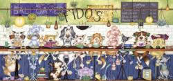 Fido's Coffee Bar Dogs Panoramic Puzzle