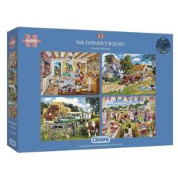 The Farmer's Round Domestic Scene Jigsaw Puzzle