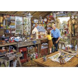 Grandad's Workshop Nostalgic / Retro Jigsaw Puzzle